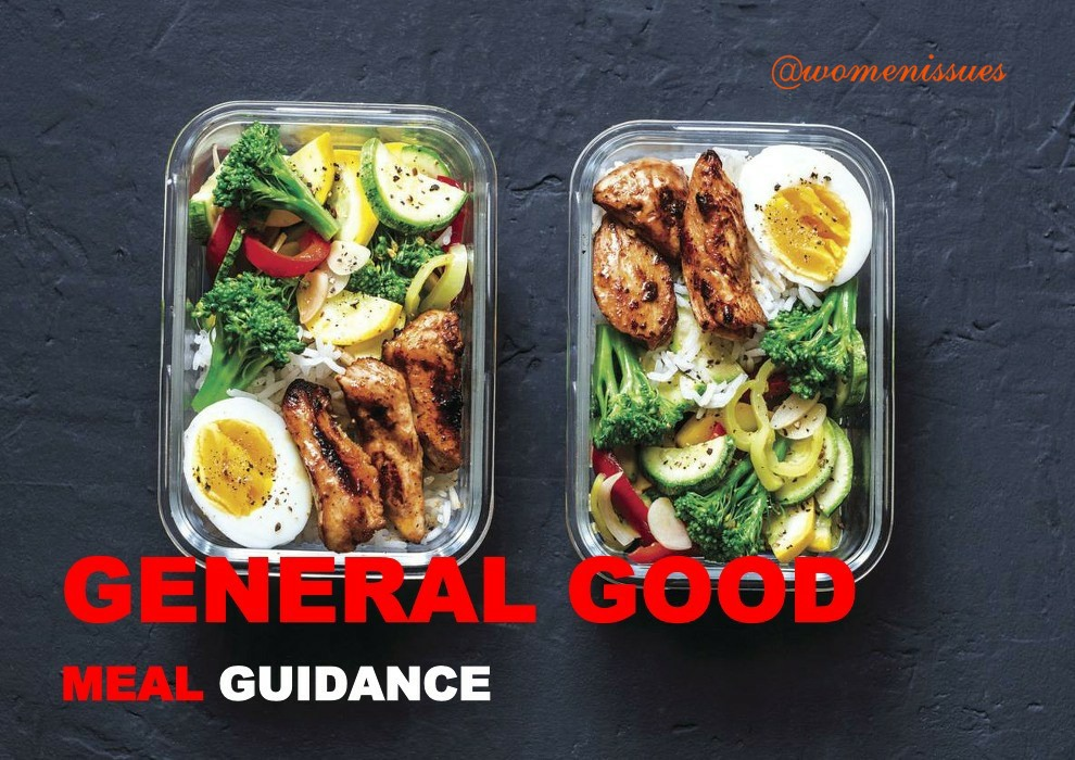 GENERAL GOOD MEAL GUIDANCE_Women issues
